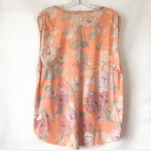 Free People Tops - Free People We Are The Free Floral Orange Top